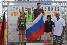 Обнинская спортсменка Людмила Никоян стала Чемпионкой мира по пляжному теннису