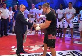 Владимир Путин посетил турнир по боевому самбо